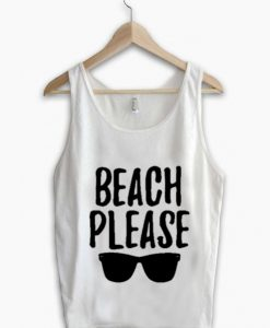 Unisex Men Women Beach Please Tanktop Tank Top