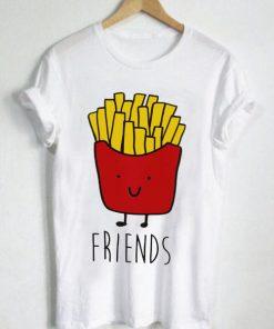 Unisex Premium Best Friends Hamburger And Fries 2 T shirt Design