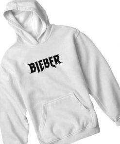 Bieber Logo White Adult Fashion Hoodie Apparel Clothfusion