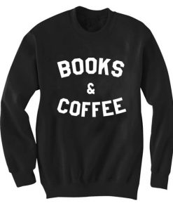 Unisex Crewneck Books And Coffee Sweatshirts Sweater