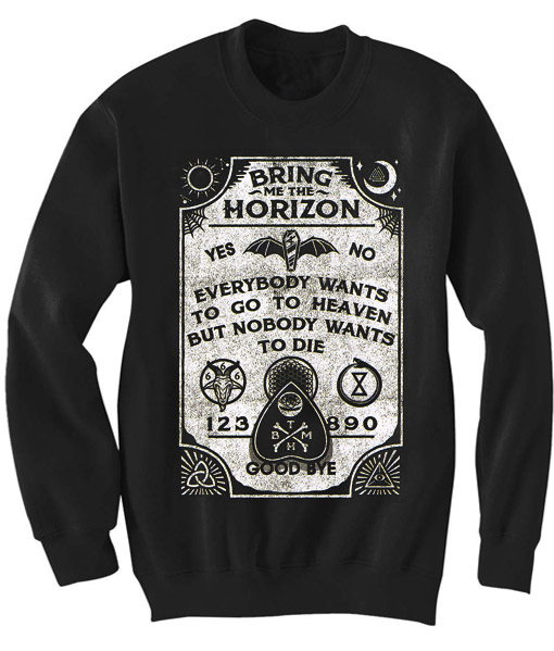 unisex crewneck sweatshirt bring me the horizon lyrics design