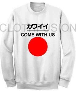 Unisex Crewneck Sweatshirt Come With Us Japan Flag Design
