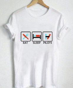Unisex Premium Eat Sleep Pilots Tshirt T-shirt