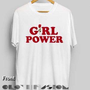 Unisex Premium Girl Power Rose T shirt Design Clothfusion