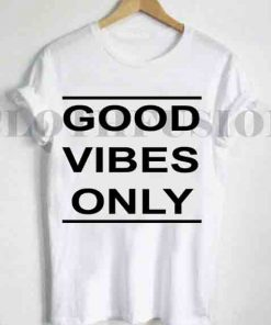 Unisex Premium Good Vibes Only Logo T shirt Design Clothfusion