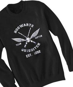 Unisex Crewneck Sweatshirt Hogwarts Quidditch Design Clothfusion