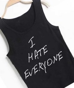 Unisex Men Women I Hate Everyone Handwriting Tanktop Tank Top