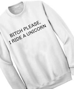 Unisex Crewneck Sweatshirt I Ride A Unicorn Design Clothfusion
