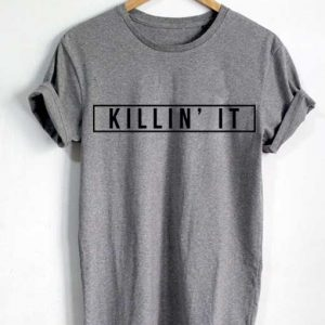 Unisex Premium Killin' It Logo Grey T shirt Design Clothfusion