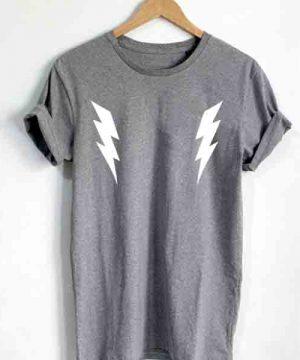 Unisex Premium Lightning Logo Grey T shirt Design Clothfusion