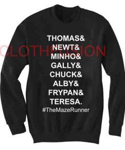 Unisex Crewneck Sweatshirt Maze Runner Cast Design Clothfusion