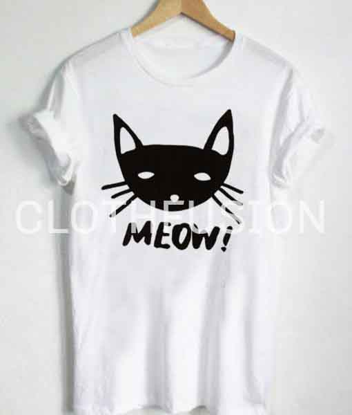 be7762d4 Unisex Premium Meow Cat Logo T shirt Design Clothfusion