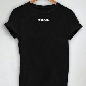 0cf8fe88 Unisex Premium Music Logo Simple T shirt Design Clothfusion
