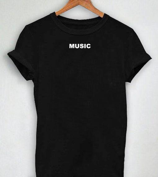Premium Music Logo Simple T shirt Design Clothfusion