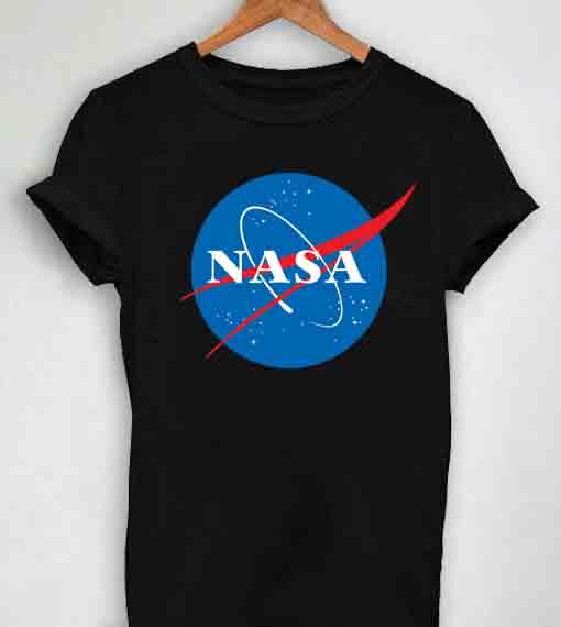 c6607eac Unisex Premium Nasa Logo Black T shirt Design Clothfusion