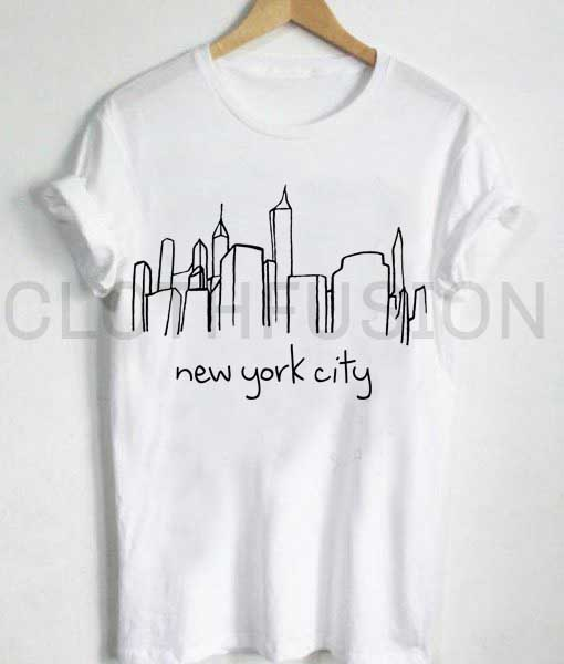 Unisex premium new york city skyline t shirt design for New york printed t shirts