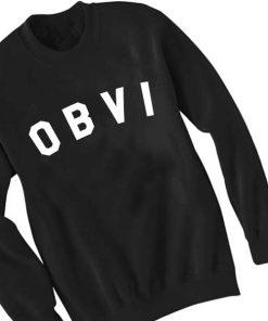 Unisex Crewneck Sweatshirt Obvi Logo Quotes Design Clothfusion