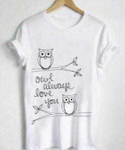 Unisex Premium Owl Always Love You Logo T shirt Design