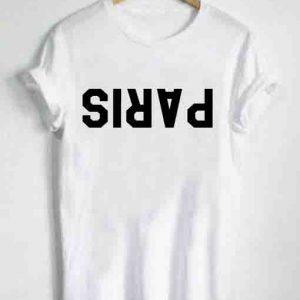 Unisex Premium Paris Logo White T shirt Design Clothfusion