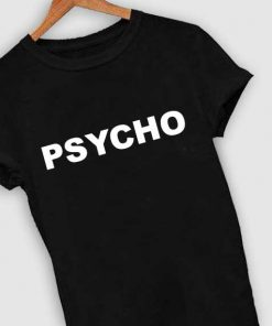 Unisex Premium Psycho Logo Black Simple T shirt Design Clothfusion