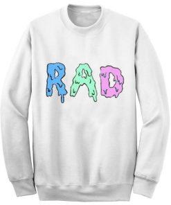 Unisex Crewneck Sweatshirt RAD Logo White Design Clothfusion