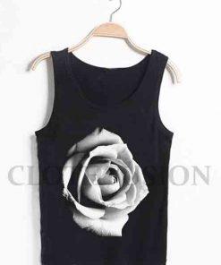 Unisex Men Women Single Rose Tanktop Tank Top