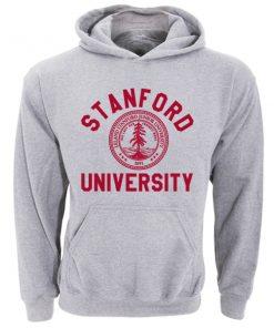 Stanford University Logo Grey Adult Fashion Hoodie Apparel