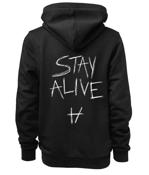 stay alive twenty one pilots adult fashion hoodie apparel. Black Bedroom Furniture Sets. Home Design Ideas