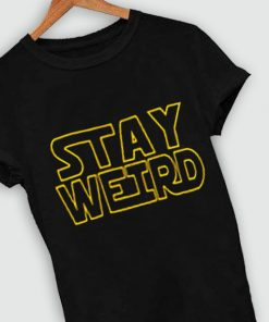 Unisex Premium Stay Weird Logo T shirt Design Clothfusion
