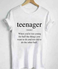 Unisex Premium Teenager Definition T shirt Design Clothfusion