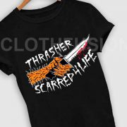 Unisex Premium Thrasher Scarred 4 Life T shirt Design Clothfusion
