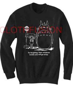 Unisex Crewneck Sweatshirt Totoro Quotes Design Clothfusion
