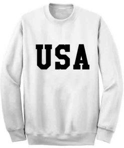 Unisex Crewneck Sweatshirt USA Logo Quotes Design Clothfusion