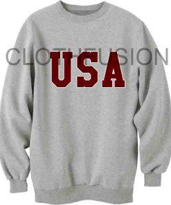 Unisex Crewneck Sweatshirt USA Logo Grey Design Clothfusion