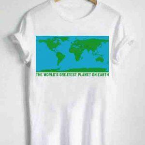 Unisex Premium World Map T shirt Design Clothfusion