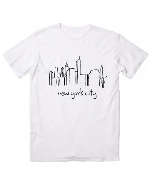 129e1d97 Unisex Premium New York City Skyline T shirt Design Clothfusion