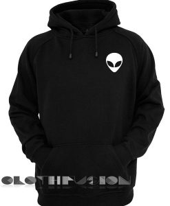 Alien Head Logo Simple Adult Fashion Hoodie Apparel Clothfusion