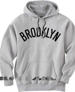 Brooklyn Logo Grey Adult Fashion Hoodie Apparel Clothfusion