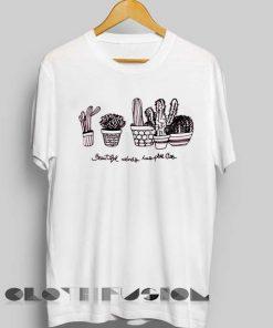 Unisex Premium Cactus Logo White T shirt Design Clothfusion