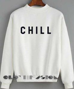 Unisex Crewneck Sweatshirt Chill Logo White Clothfusion