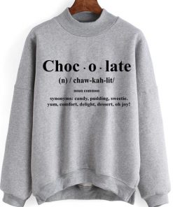 Unisex Crewneck Sweatshirt Chocolate Definition Design Clothfusion