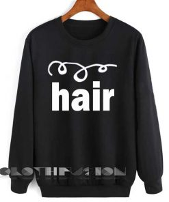 Unisex Crewneck Sweatshirt Curly Hair Black Clothfusion
