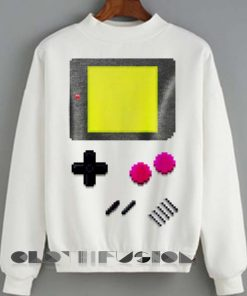 Unisex Crewneck Sweatshirt Game Boy Logo Design Clothfusion