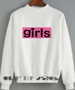 Unisex Crewneck Sweatshirt Girls Logo Cute Design Clothfusion