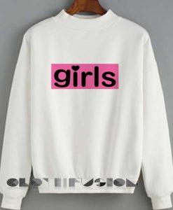 Unisex Crewneck Sweatshirt Girls Logo Cute Design Clothfusion