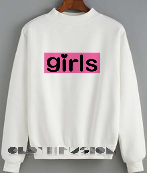 Crewneck Sweatshirt Girls Logo Cute Design Clothfusion