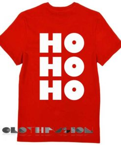 Unisex Premium Hohoho Christmas T shirt Design Clothfusion