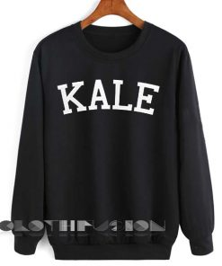 Unisex Crewneck Sweatshirt Kale Logo Black Design Clothfusion