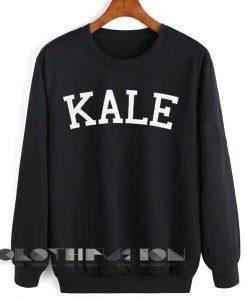 Unisex Crewneck Sweatshirt Kale Logo Black Design Clothfusion