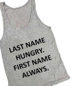 Unisex Men Women Last Name Hungry Tanktop Tank Top